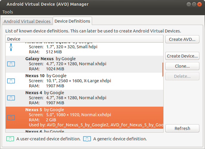 start avd from command line ubuntu